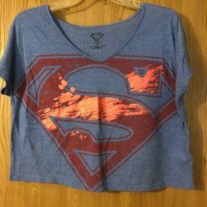 Tops - Juniors Superman Cropped Top, NWOT, XS